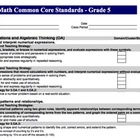 Math Common Core Standards Checklist for Lesson Plans xls