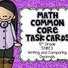 Math Common Core Task Cards 5th Grade CCSS 5.NBT.3