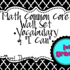 Math Common Core Wall Set: 1st Grade