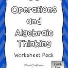 Math Common Core Worksheet PACK (4.OA)