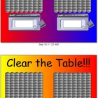 Math Counting Game - Clear the Table