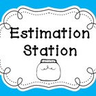 Math Estimation Station Poster Set and Recording Sheet