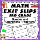 Math Exit Slips - 3rd Grade Common Core Number and Operati