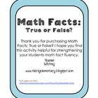 Math Facts: True or False?