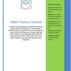 Math Fluency Games