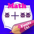 Math Fonts (Clock, Domino, Regular)