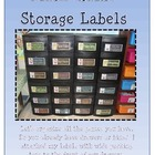 Math Game Storage Labels
