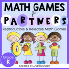 Math Games for Kinder Partners  {Reproducible and Reusable Games}