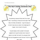 Math Games for Middle School 2 - Cooking Conversion Star (