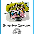 Math Games for Middle School - Equation Carousel (Solving