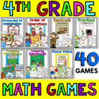 Math Games for an ENTIRE YEAR {grades 3-5}