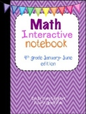 Math Interactive Notebook 4th grade edition January-June