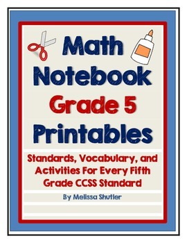 Math Interactive Notebook Printables -Grade 5