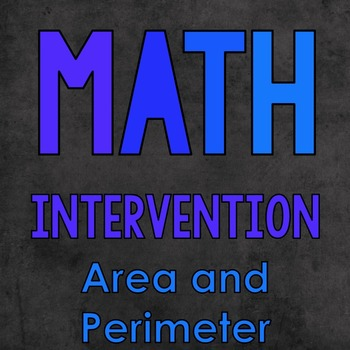 Math Intervention: Area and Perimeter