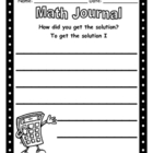 Math Journal - How Did You Get The Solution