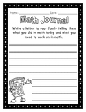 Math Journal - Letter To Parents