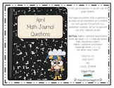 Math Journal Prompts-April