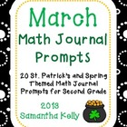 Math Journal Prompts ... March