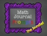 Math Journal Prompts - Seasonal Bundle!
