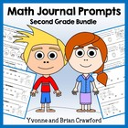 Math Journal Prompts for 2nd Grade Bundle - Mathbooking