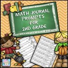 Math Journal Prompts for Second Grade: Fall Version (Commo