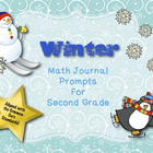 Math Journal Prompts for Second Grade:  Winter Version (Co