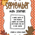 Math Journals {September}