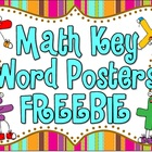 Math Key Word Posters FREEBIE!