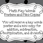 Math Key Words Poster Set- Pirates Theme