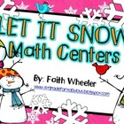 Math - Let it Snow Winter Centers