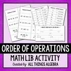Order of Operations - Math Lib Activity!
