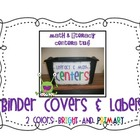 Math & Literacy Centers Binder Covers & Labels