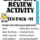Math Mat Review Activity:  ASSORTED TEN PACK #11