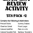 Math Mat Review Activity:  ASSORTED TEN PACK #2