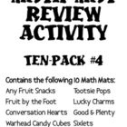 Math Mat Review Activity:  ASSORTED TEN PACK #4