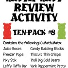 Math Mat Review Activity:  ASSORTED TEN PACK #8