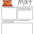 Math Mat Review Activity:  Cheez-Its Crackers
