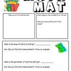 Math Mat Review Activity:  Fruit Roll-Ups