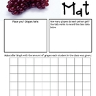 Math Mat Review Activity:  Grapes