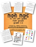 Math Mats to Use for Guided Math Groups