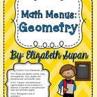 Math Menus: Geometry