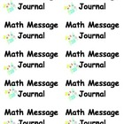 Math Message Journal Labels
