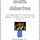 Math Minutes-Addition and Subtraction Math Facts to 10