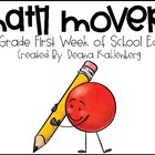 Math Movers: First Week of School Edition