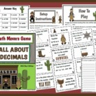 Math Movers Game All About Decimals and Fractions Review f