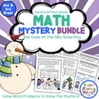 Math Mystery Bundle Grade 2 and 3 - Case of the Silly Snow