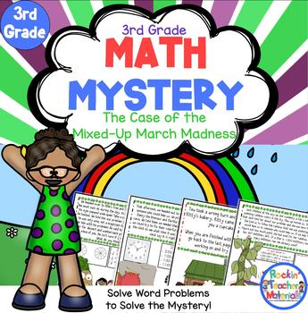 Math Mystery-Case of the Mixed-Up March Madness-Grade 3