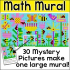 Math Mystery Pictures Spring Mural Activity - 30 Pictures