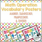 Math Operations Vocabulary Posters - Colorful