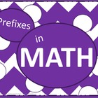 Math Prefixes Poster Set - Purple